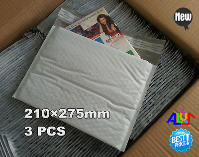 3p samplepak 210×275mm Blank Waterproof Plastic Poly Bubble Padded Envelope Bag