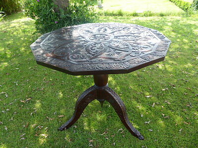 Country Oak Carved Occasional Table Suit Country Cottage
