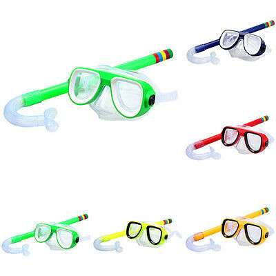 Children Anti-Fog Swimming Mask Surface Snorkel Goggles Glasses Ideal for Diving