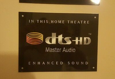 DTS Master Audio Home Cinema metal sign sheen professional finish Theatre sign