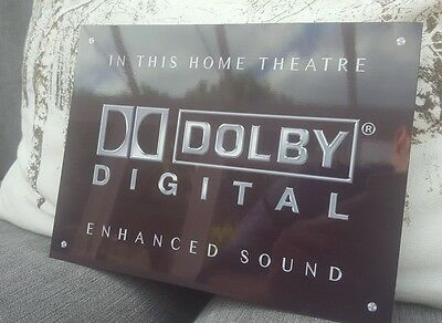 Dolby Digital silver Home Cinema metal sign high sheen professional Theatre sign