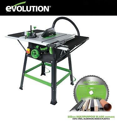 Evolution 1500W 255mm Table Saw FURY5-S Cuts Wood & Metal! NEW & VAT Receipt Inc