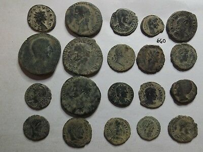 Lot of 20 Quality Uncleaned Ancient Roman Coins; 86 Grams!