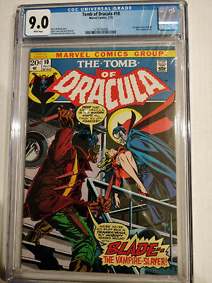 Tomb Of Dracula #10  Cgc Universal 9.0  1St Appearance Of Blade. Huge Key