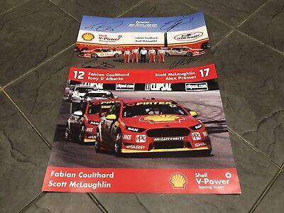 McLaughlin Coulthard Signed 2017 DJR Team Penske Ford Falcon FGX Posters