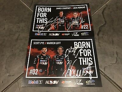 Courtney Pye Signed 2017 Mobil 1 HSV Racing Holden VF Commodore Enduro Cards