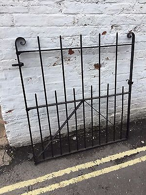 Very Rare Old Antique Garden Cottage Wrought Iron Gate Entrance Path Barn Metal
