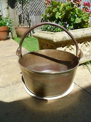 Old Brass (Iron handle) Cauldron