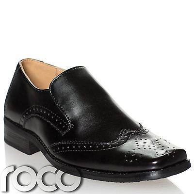 Boys Wide Fit Shoes, Boys Black Shoes, Formal Shoes, Wedding Shoes, Prom Shoes