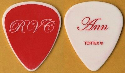 Heart Ann Wilson authentic 2010 Red Velvet Car tour issued band Guitar Pick