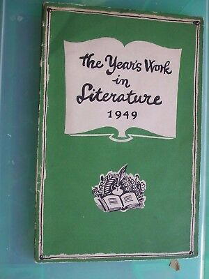 Keith Vaughan cover to The Year's work in Literature 1949 Curwen Press