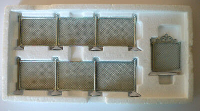 "Brand New Department 56 Village Accessories ""Chain Link Fence With Gate"" #52345"