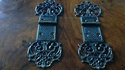 Pair Ornate Hinges. Trunk Box Cabinet