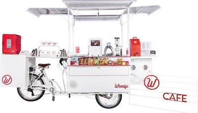 Wheelys 5 Cafe Bicycle Food Cart Coffee Bike Ice Cream Crepes Mobile Vending