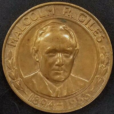 Malcolm R. Giles, Giles Memorial Award, Loyal Order of Moose bronze token! 35 mm