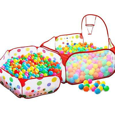 1.2m/1.5m Foldable Dot-net With Basket Kids Pit Balls Pool Outdoor Indoor Tent