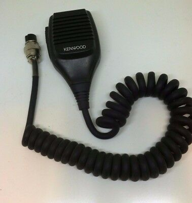 Vintage Kenwood Dynamic Microphone Impedance 600 PTT with Cord Untested AS-IS