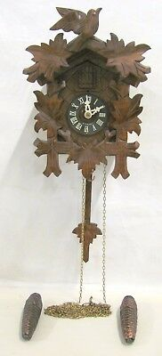 August Schwer Small Black Forest Style Cuckoo Clock, Made in Germany
