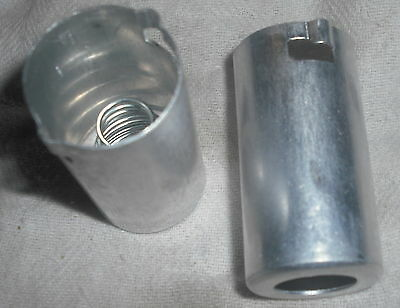 2x valve preamp tube shield 12AX7 ECC83 aluminium screening can 9 pin