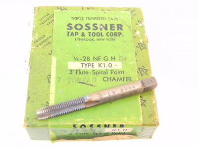 GH1 Oxide Coated New Sossner 1-72 Spiral Pointed Tap