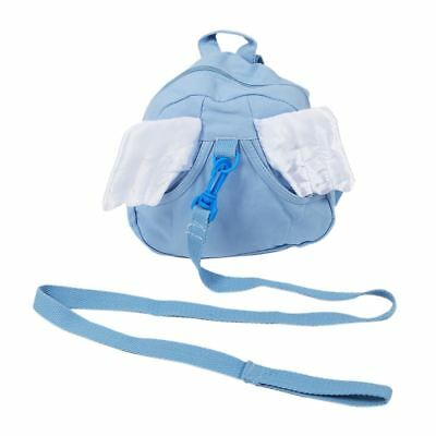3X(Toddler Safety Harness Kid Baby Backpack Reins Harnesses-Angel-Blue G7Y3 DP