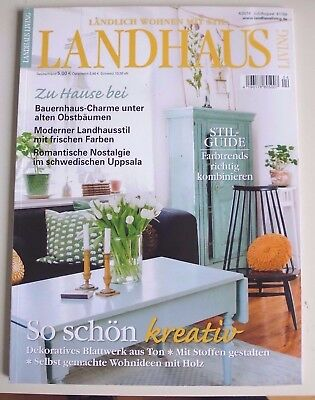 landhaus living shabby romantik vintage zeitschrift 1. Black Bedroom Furniture Sets. Home Design Ideas