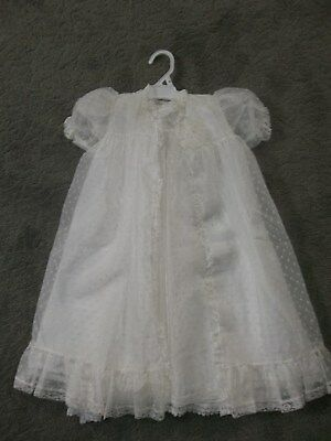 Vintage Madonna Christening Gown & Matching Overcoat * Satin Lined
