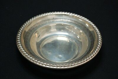 Rogers 925 Solid Sterling Silver Candy Bowl Dish #2011 Pierced - 74g (1)