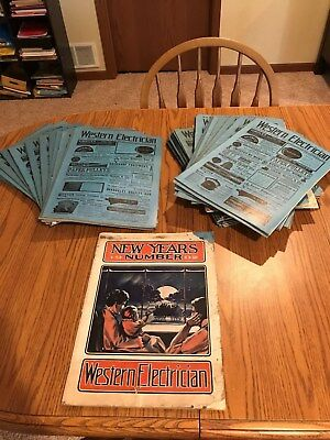 (45) Antique Western Electrician Magazines <Years: 1901 & 1902- Museum Items>