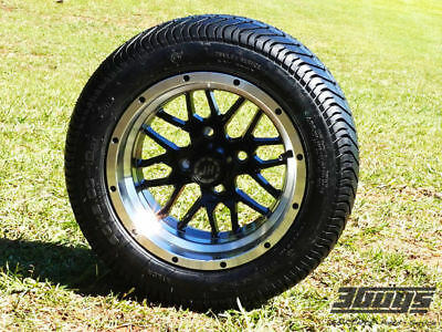 """Fusion 12"""" LoPro Golf Cart Wheels & Tires (Set of 4)"""