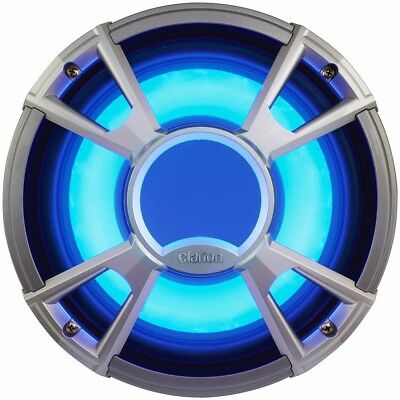 "NEW Clarion Cmq2512wl 10"" 4-ohm Subwoofer 400w W/led - Light Blue"