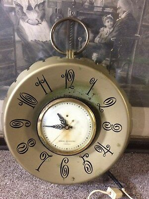 Vintage General Electric, Telechron botle cap, mid century wall clock! Retro!