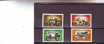 a130 - BARBUDA - SG804-807 MNH 1985 CENTENARY OF MOTOR CYCLE