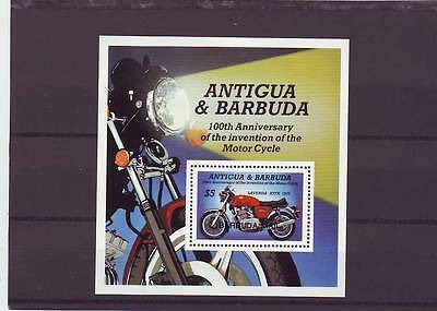 a130 - BARBUDA - SGMS808 MNH 1985 CENTENARY OF MOTOR CYCLE