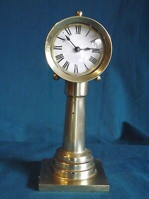 "Brass Novelty ""Wheelhouse"" Clock Pat 1878 USA."
