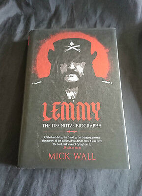 *HARDBACK Book AUTOBIOGRAPHY - 'LEMMY - THE DEFINITIVE BIOGRAPHY' By MICK WALL*