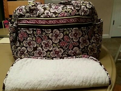 Vera Bradley, Baby Diaper Bag, with Changing Pad