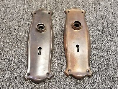 Pair Of Antique Vintage  Door Faceplates