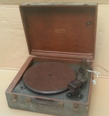 Collaro Microgram Valve Record Player Turntable.