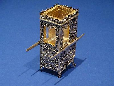 Silver Sedan Chair Salt Cellar! Great