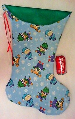Giant Christmas Stocking Rug Rats Christmas Print Handmade & New