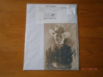 Studio Photo and Autograph of Hoot Gibson Silent Film Star circa 1920's