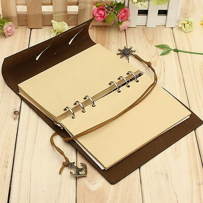 Dark Coffee Handy Bound PU Leather Cover Notebooks Journals Diary Book 3C