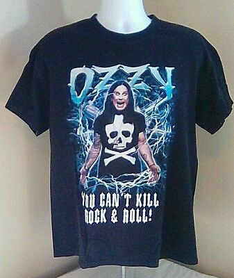 Vtg Tennessee River 2003 Ozzy Osborne You Can't Kill Rock & Roll T- Shirt Large