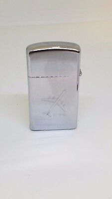 Vintage United Airlines Zippo Lighter DC-8-61 Sell The Friendly Skies Of United