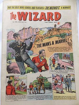 DC Thompson. THE WIZARD June 22nd Comic 1963. Issue 1949 *Free UK Postage*