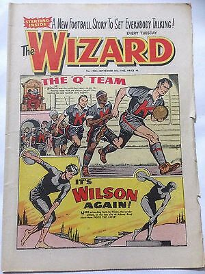 DC Thompson. THE WIZARD Comic September 8th 1962. Issue 1908 *Free UK Postage*