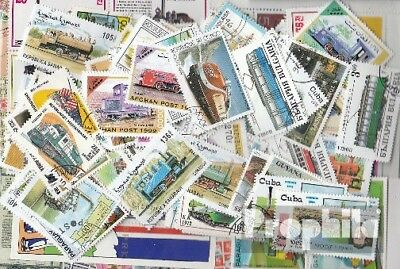 Motives 200 different stamps  Railway in complete Expenditure