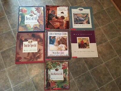 Max Lucado childrens books; Lot of 7 **See Description for Titles**