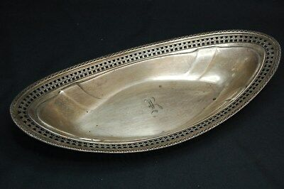 Antique Watson Company Solid Sterling Silver Serving Dish Boat Monogrammed 164g